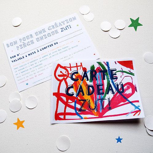 Carte Cadeau ZUT!