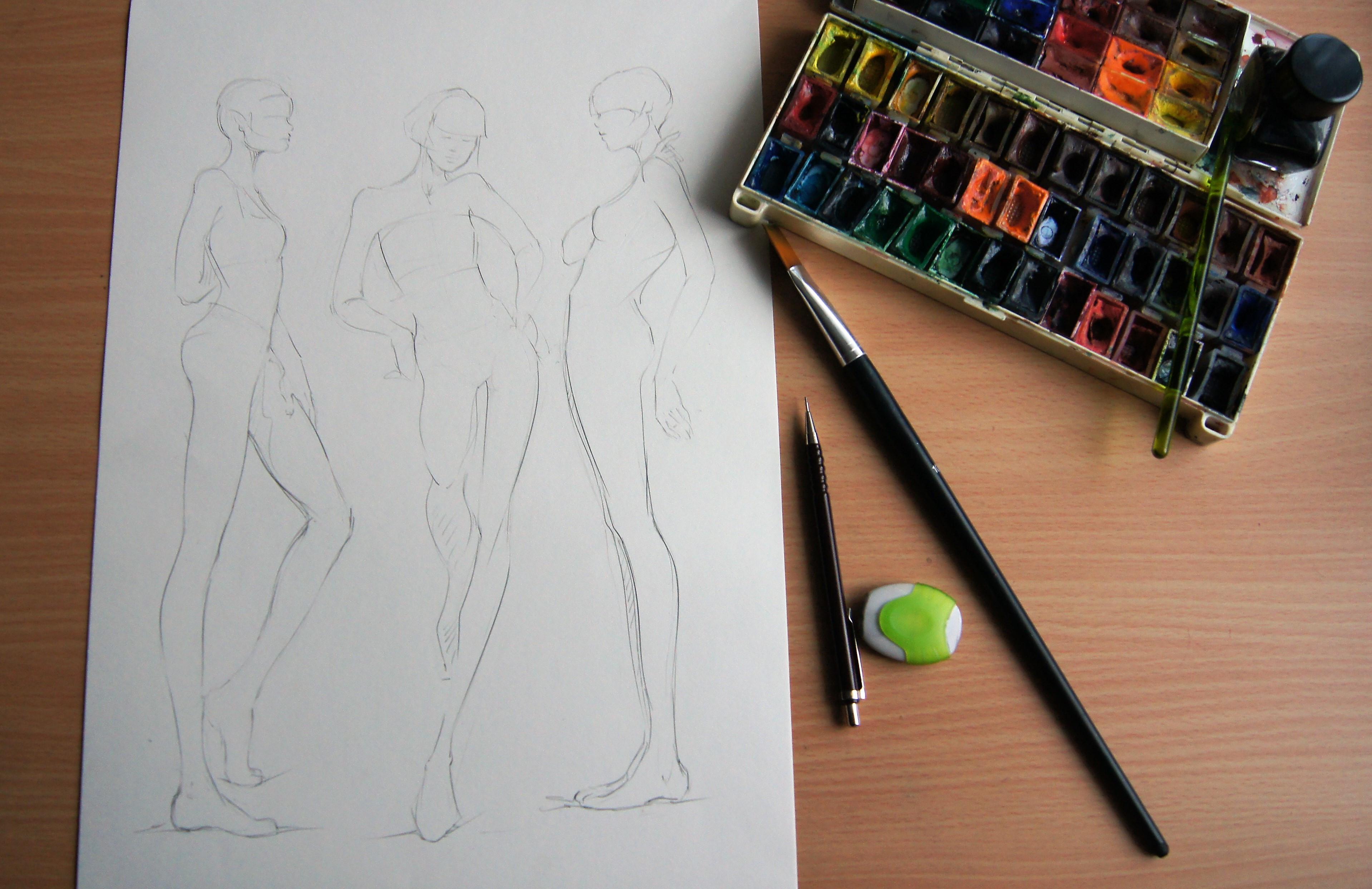 Modezeichnen für Fortgeschrittene I