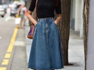 Trend alert: saia midi jeans