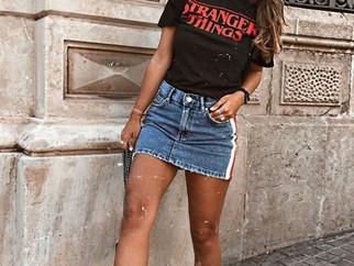 8 formas de usar saia jeans