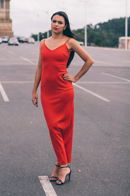 Vestido vermelho fatal vintage novo
