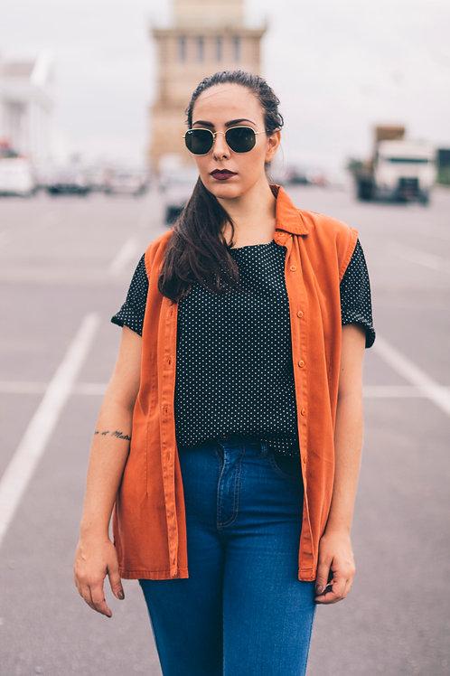 Blusa de poás vintage