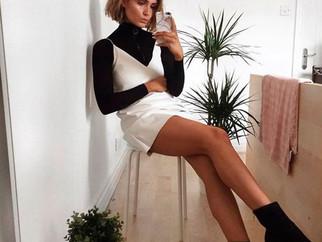 Duo que estou amando: blusa de manga longa + vestido
