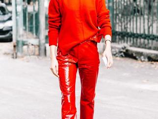 Trend alert: calça vermelha