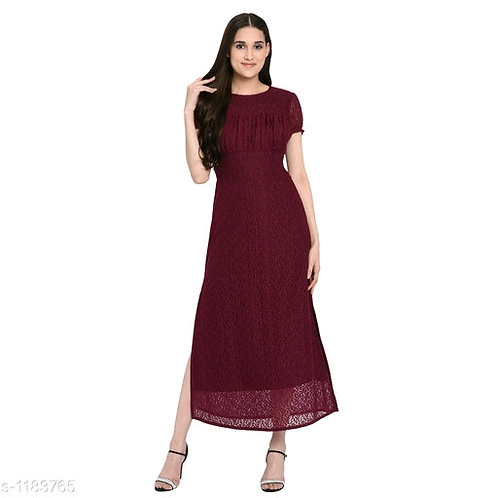 Stylish Ethnic Cotton Net Women Western Dresses
