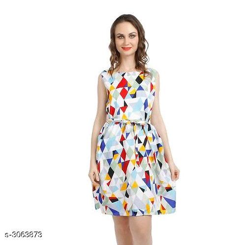Eva Elegant Attractive Crepe Women's Dresses
