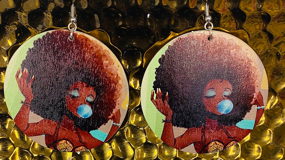 Black Girl Poppin! Earrings