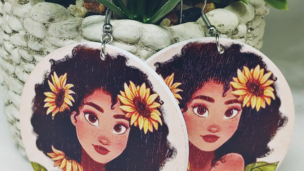 Sunflower Queen Earrings