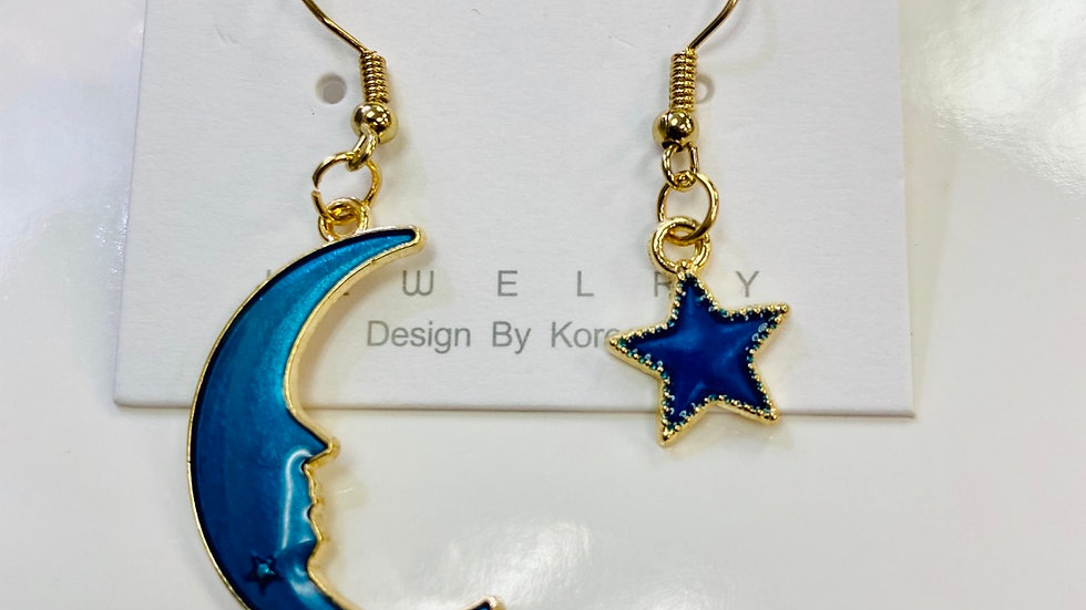Star & Crescent Earrings