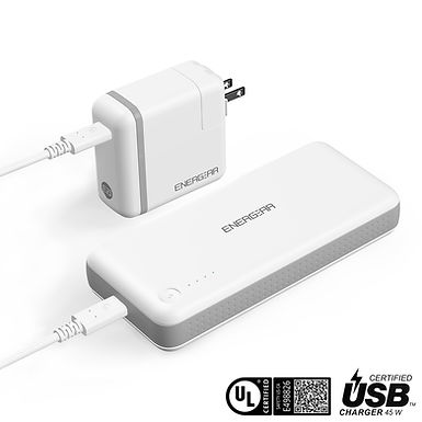 ENERGEAR 45W USB C Power Bank 10,000mAh, USB-IF/UL Certified