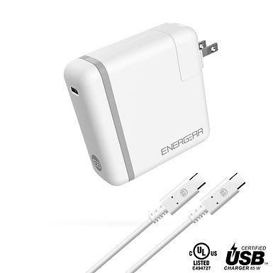 ENERGEAR 85W USB C Charger, Foldable Plug, USB-IF/UL Certified