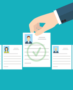 hand selecting a CV