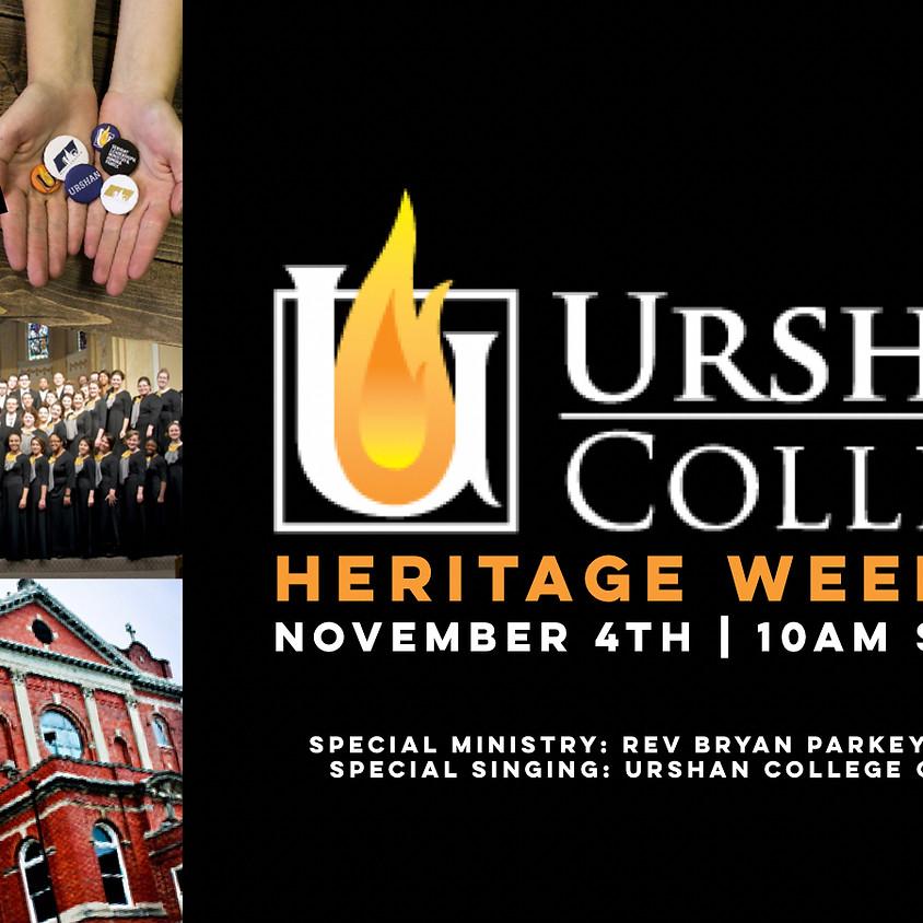Urshan College Heritage Weekend