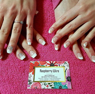 """Amazing """"Raspberry Wire"""" Nail Therapy"""