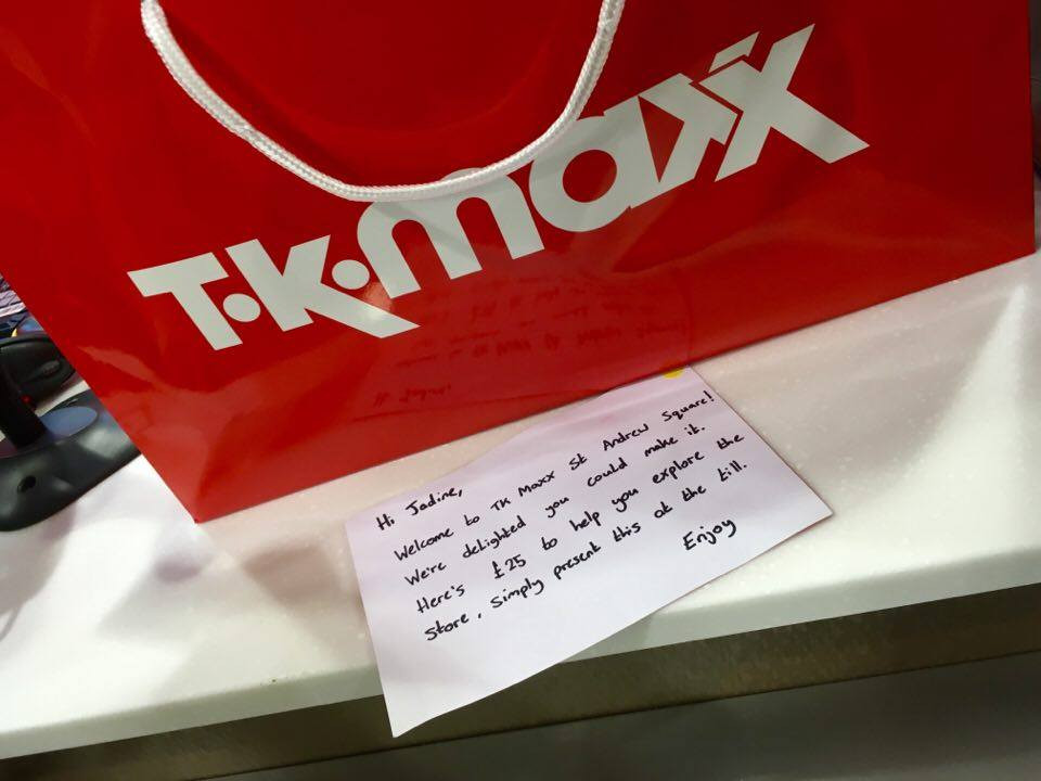 TK Maxx VIP Guest Edinburgh