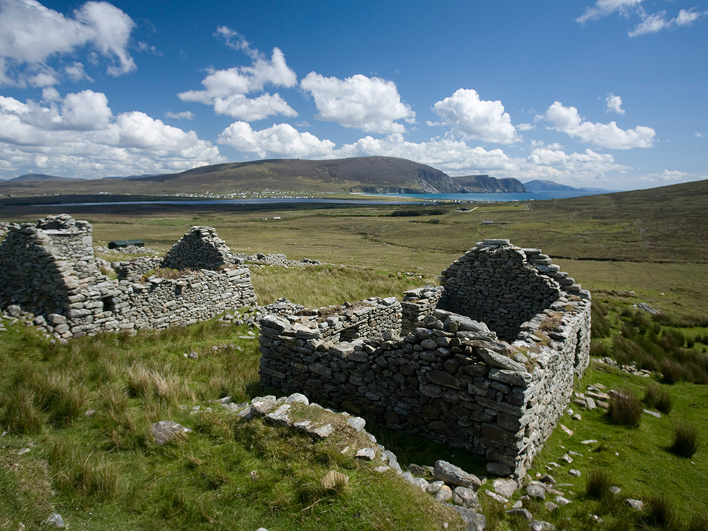 Slievemore is a deserted village on Achill Island