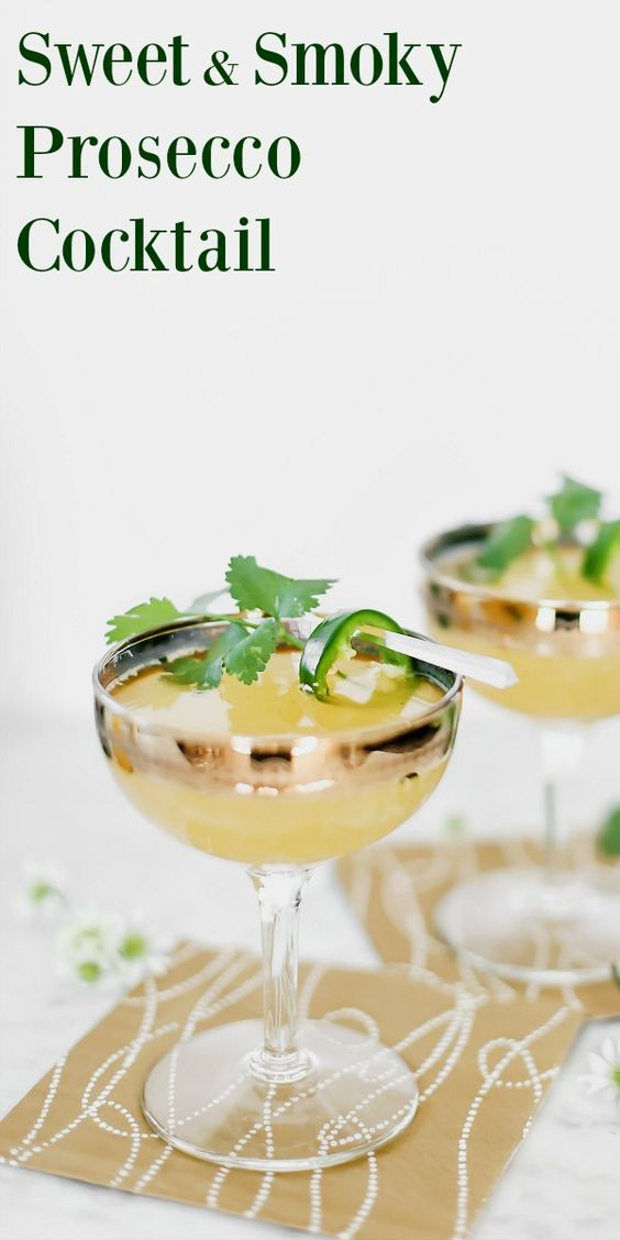 Mezcal Prosecco Cocktail
