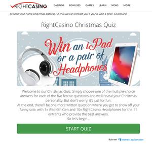 Right Casino - Christmas - Offer - Gamble - casino