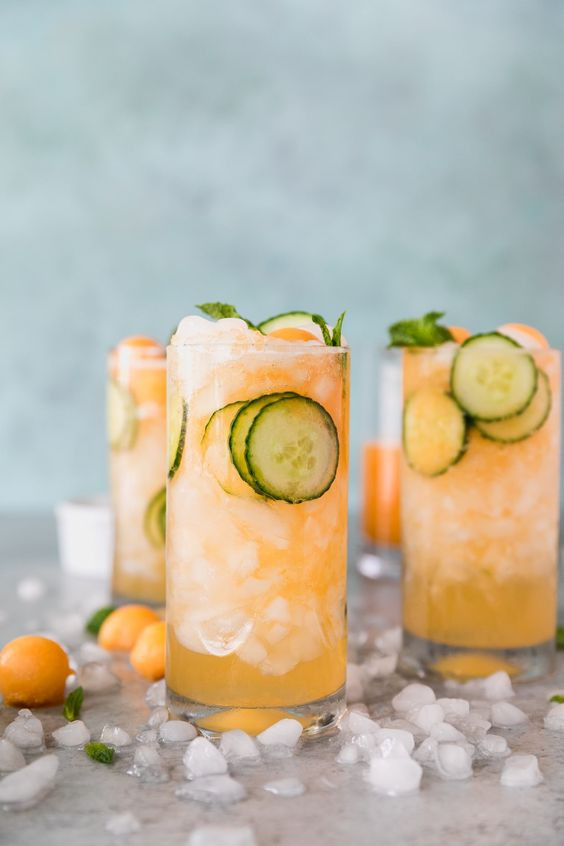 Cucumber Melon Gin Spritzers