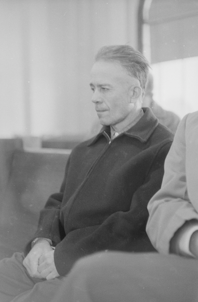 Ed Gein at his arraignment in 1957.