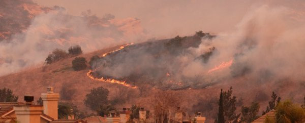 Wildfires in California, T