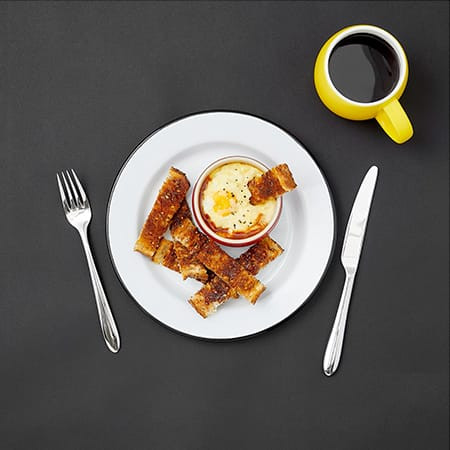 CHEESY BAKED EGGS WITH MARMITE