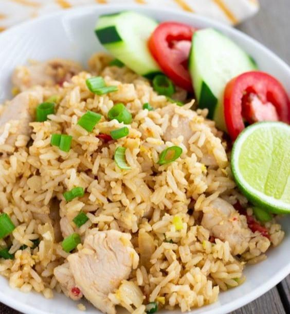 Khao Phat Gai- Thai Chicken Fried Rice