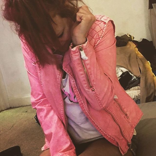 #pink #biker jacket from _asos thank you 😊 #blogger