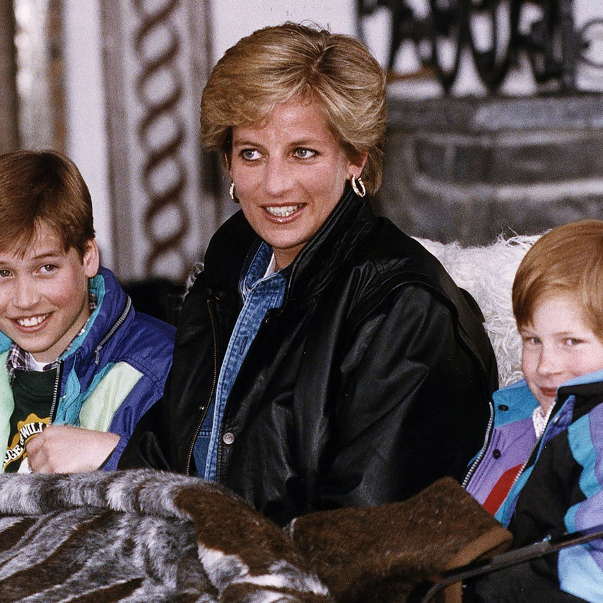 Princess+Diana+with+her+two+sons+on+holiday+in+Austria+in+November+1993