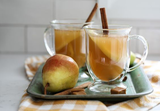 Caramel Pear Cider - Fall Cocktail Recipe