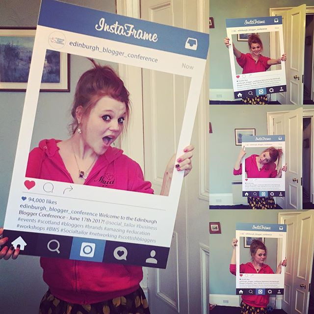 Lovin the _insta_frameuk cannot wait to use this awesome _edinburgh_blogger_conference sign at our event on the 17th June 2017! Fantastic #s