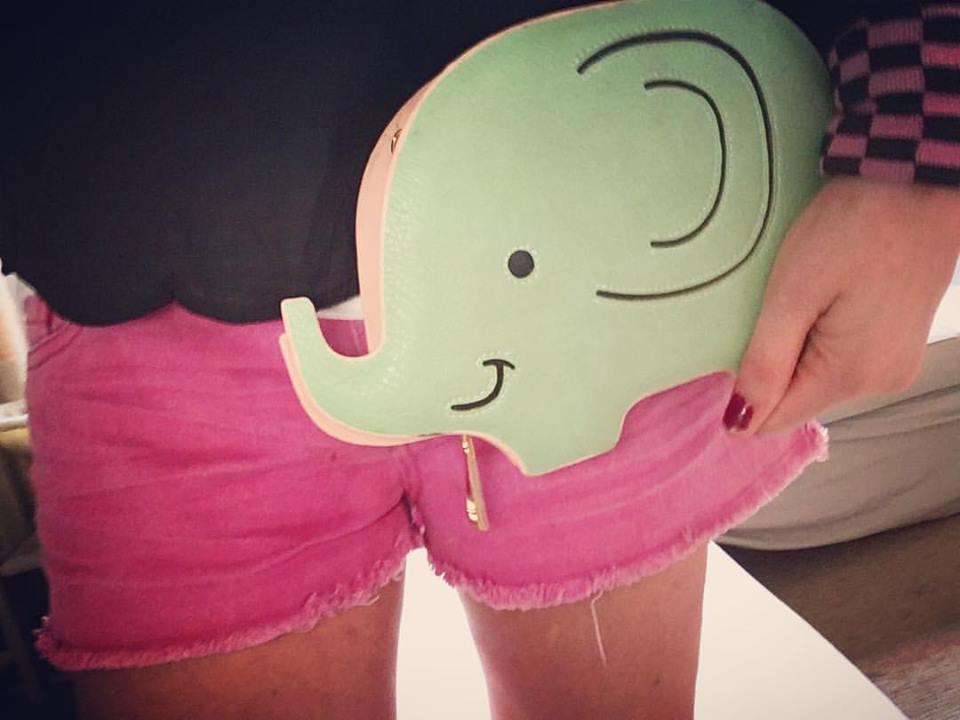 Elephant little clutch
