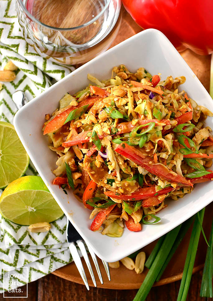 .Thai Crunch Salad with Thai Peanut Dressing