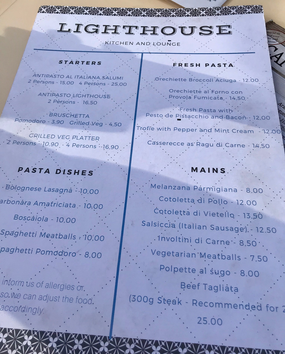 Authentic Italian Food in San Gwann