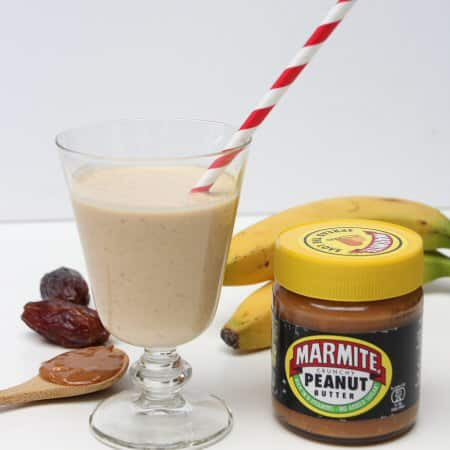 MARMITE & PEANUT BUTTER, BANANA SMOOTHIE