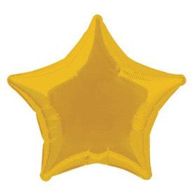"Balloon Foil 20"" Star Gold"