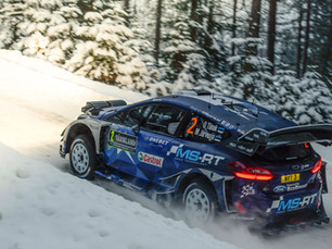 TÄNAK IN PODIUM POSITION AT RALLY SWEDEN
