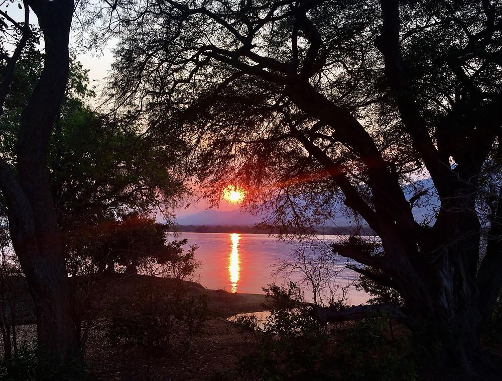Mana pools sunset