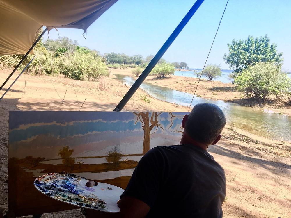 larry norton painting mana pools