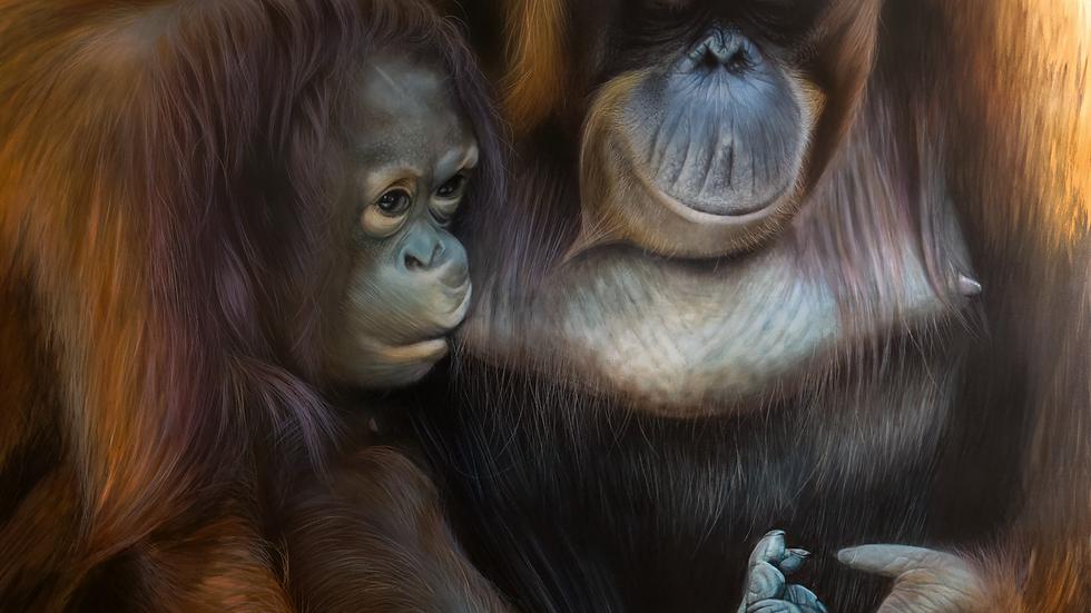 'Mother's Comfort' (150 x 100 cm)