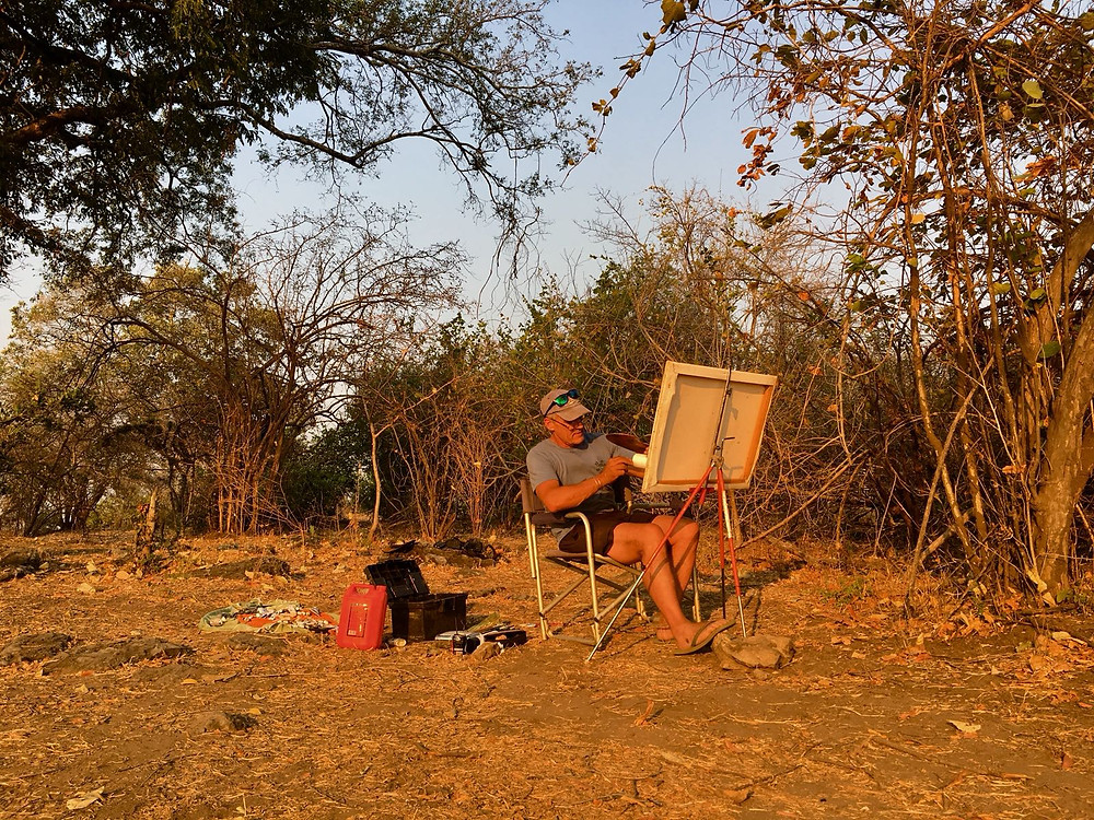 larry norton at work in the bush