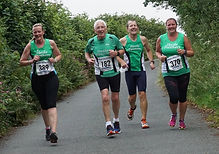 Hayle Runners homeward bound at Sticker 5 miler