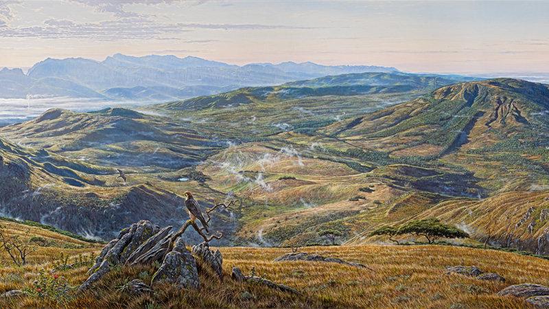 african landscape print