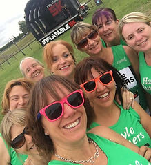 Hayle Runners ladies go for a fun event
