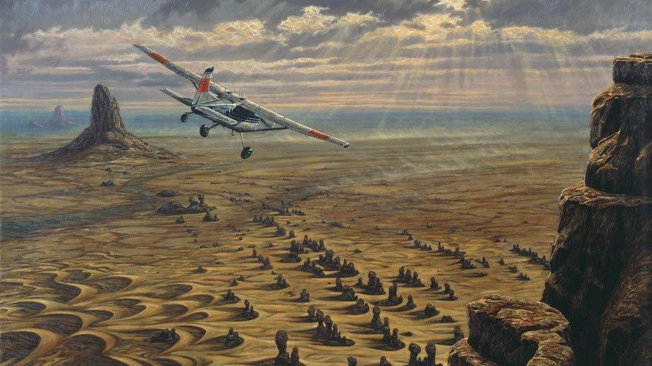 'Sahara - Timmisartok' Canvas Print by Larry Norton