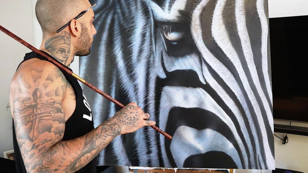 Zebra - by Anthony Walker (110 X 100 cm)