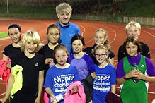 Track night for the older Hayle Runners Juniors