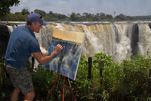 Larry painting Vic Falls #2.jpg