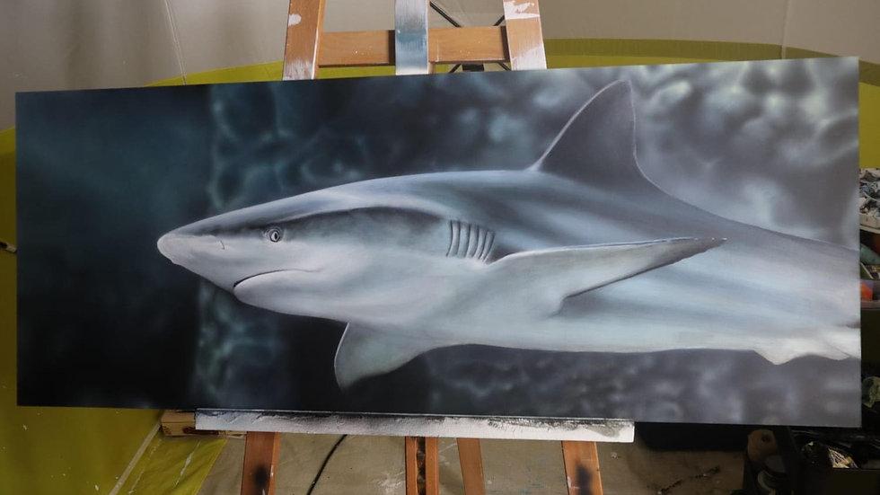 shark painting print