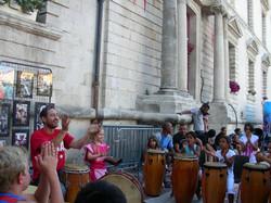 Animation spectacle percussions Cubaine à Marignane